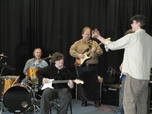 Tim Ainslie and Buddy Whittington teaching guitar